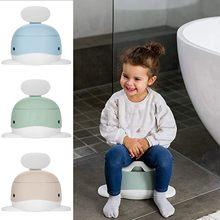 Corte baleia bebê potty trainer assento do vaso sanitário cadeira de viagem criança treinamento potty dos desenhos animados cadeira de plástico urinol potty
