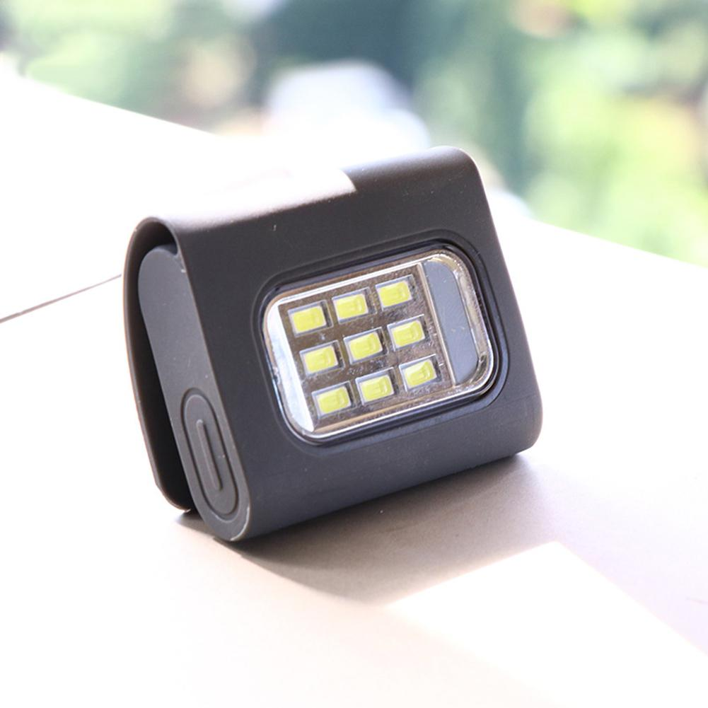 Outdoor Sports Running Light USB Charge LED Night Running Flashlight Safety Jogging Chest Pocket Lamp Walking Warning Light