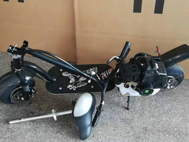 Foldable Gas Gasoline Scooters 2-Stroke 4-Stroke Fuel Power Mini Pedal Scooter Motor Dirt Bike Mini motorcycle 6