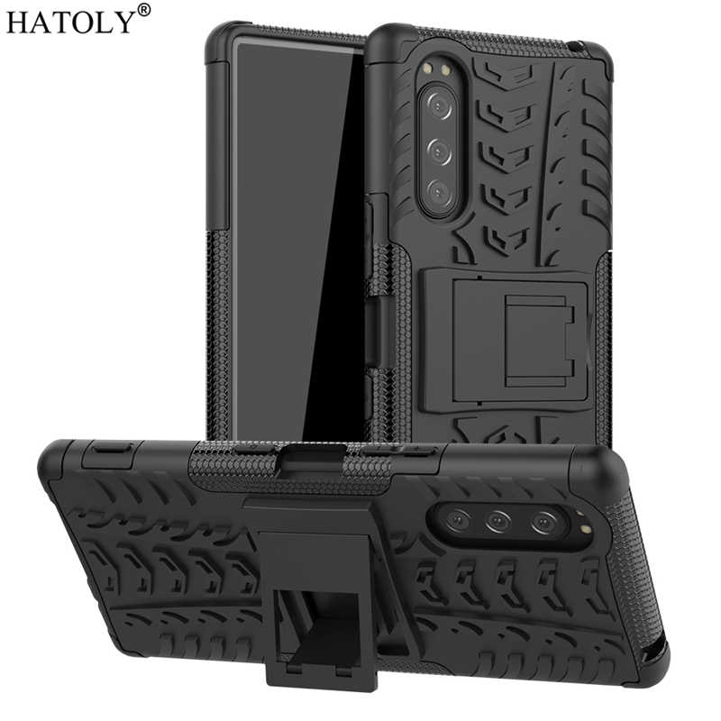 For Sony Xperia 5 Case Cover Anti-knock Heavy Duty Hard Armor Back Cover Xperia 5 Silicone Phone Bumper Case For Sony Xperia 5