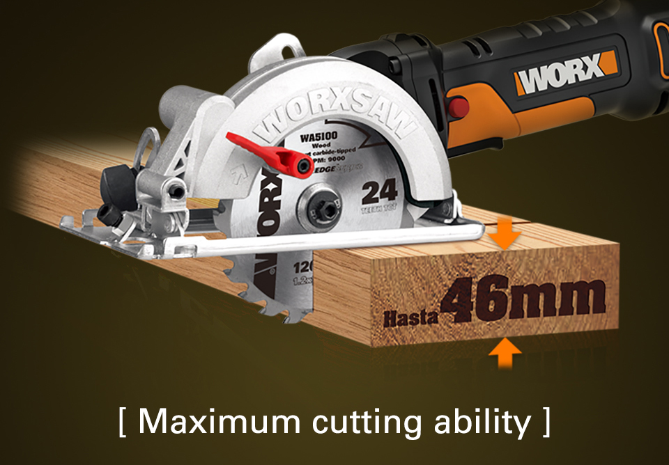 Worx 500W Electric Saw Maximum Cutting ability