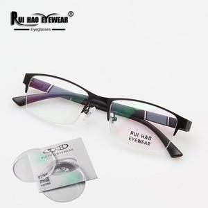 Image 2 - Prescripción gafas de alta elasticidad gafas de Marco rectángulo de diseño óptico gafas miopía progresiva resina gafas