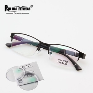 Image 2 - Prescription Eyeglasses Men Glasses Frame Rectangle Design Optical Glasses Myopia Progressive Resin Lenses Spectacles 961