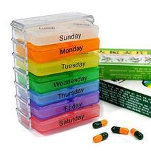 7-camada dobrável pílula caixa de medicina da manhã noite pílula organizador tablet recipiente de armazenamento caso para ferramentas de cuidados de saúde