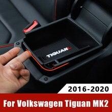 Accoudoir de voiture boîte de rangement centrale conteneur gant organisateur Case pour Volkswagen VW Tiguan mk2 2016 2017 2018 2019 2020 accessoires