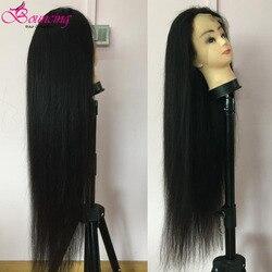 Pelucas de cabello humano con rebote recto 13x4, pelucas de cabello humano brasileño Remy 150% de densidad 250% 30 32 34 36 38 40 pulgadas, pelucas con encaje frontal