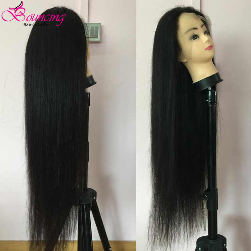 Springenden Gerade 13x4 Spitze Front Menschliches Haar Perücken Brasilianische Remy Perücken 150% 250% Dichte 30 32 34 36 38 40 Inch Spitze Front Perücken