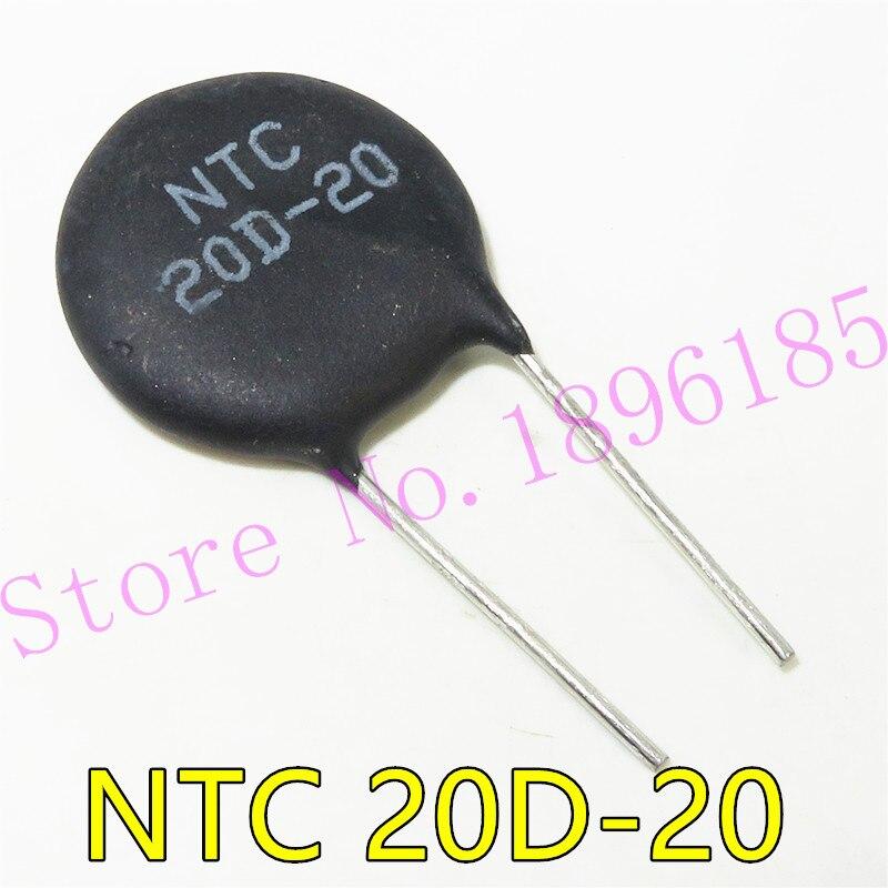 5 יח'\חבילה NTC תרמיסטור הנגד NTC 20D-20 20D20 תרמית הנגד
