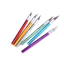 Cuchillo de uso general, mango de Metal, cuchilla de bisturí, cortador de papel de madera, artesanía, pluma, grabado, suministros de corte, papelería DIY