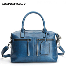 2019 Women Genuine Leather Bags Vintage First Layer Of Cowhide Leather Bag High Quality Crossbody Bags Marcas Famosas De Lujo