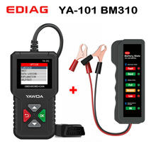 Ediag YA101 PK Launch CR3001 With Car Battery Tester With Pure copper wire Clip Digital Alternator Tester BM310 12V 6LEDS(China)