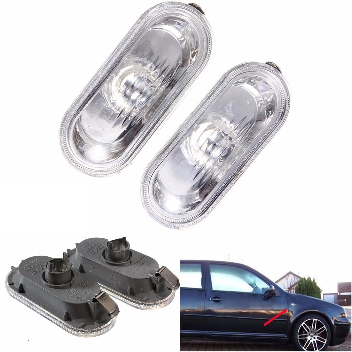 2X Side Marker Light For VW Jetta Golf Bora MK4 Passat B5 B5.5 GTI Beetle R32