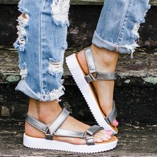 EOEODOIT 2020 Summer Sandals New Casual Flat Heel Open Toe Women Flats