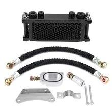 Motorcycle Engine Oil Cooler Cooling Radiator Kit Aluminum Black For Honda MSX125 YG125 Oil Cooler Kit
