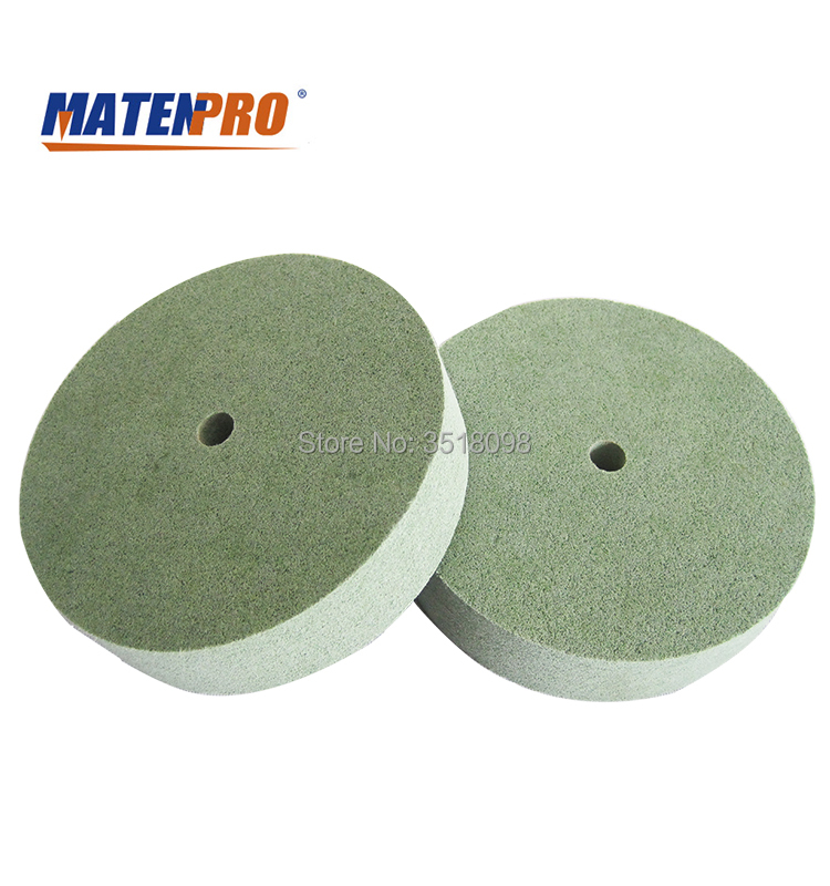 8 Inch Nonwoven Polishing Wheel, Fast Heat Dispelling, No Black Discoloration, Abrasion-resistant