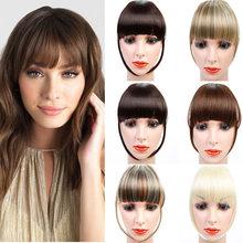Pinza de pelo con flecos para mujer, flequillo de aire Natural, Peluca de pelo corto, Roma frontal, accesorios para pelo sintético expandido