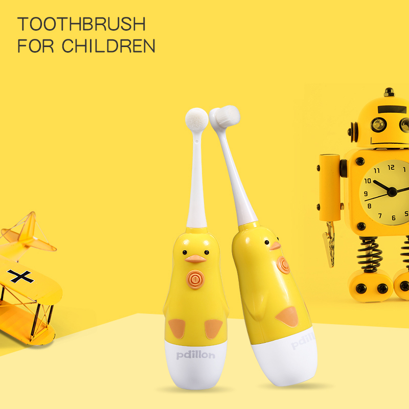 Children Electric Toothbrush Waterproof Sonic Vibrator Teeth Brush For Kids Cartoon Teeth Whitening Battery Powered