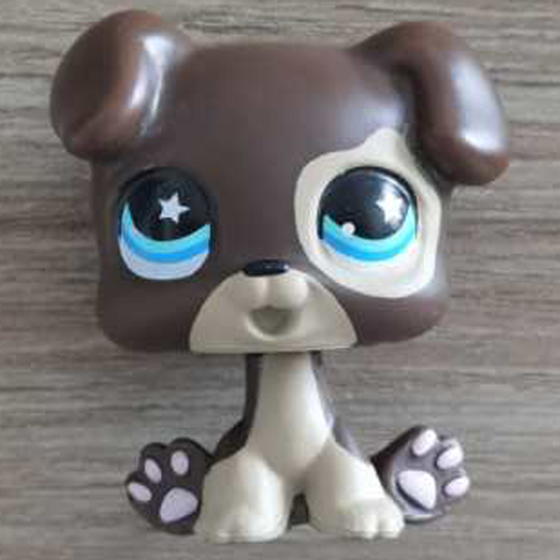 <font><b>LPS</b></font> <font><b>CAT</b></font> 4CM MINI Custom-made <font><b>Baby</b></font> Puppy for Pet Shop Toy Great Dane #817 Dog Star Eyes Brown Body LPSCB image