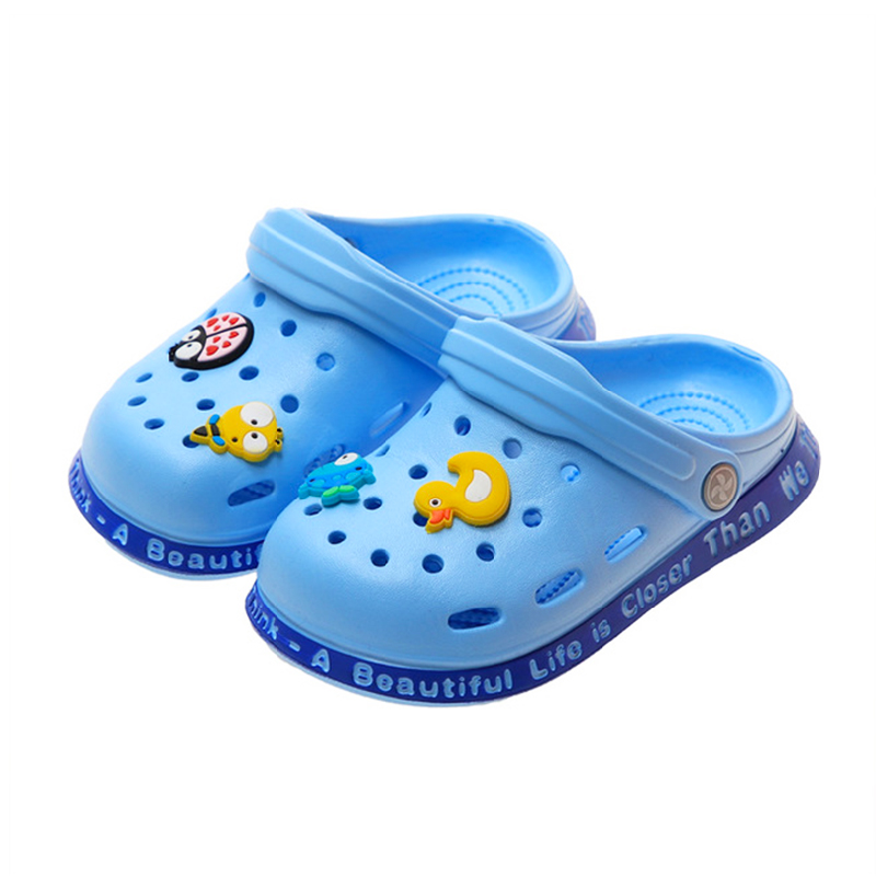 Summer Kids Toddler Hollowing Out Garden Shoes For Baby Boys Girls High Quality Croc Shoes Non Slip Cute Duck Children Slippers