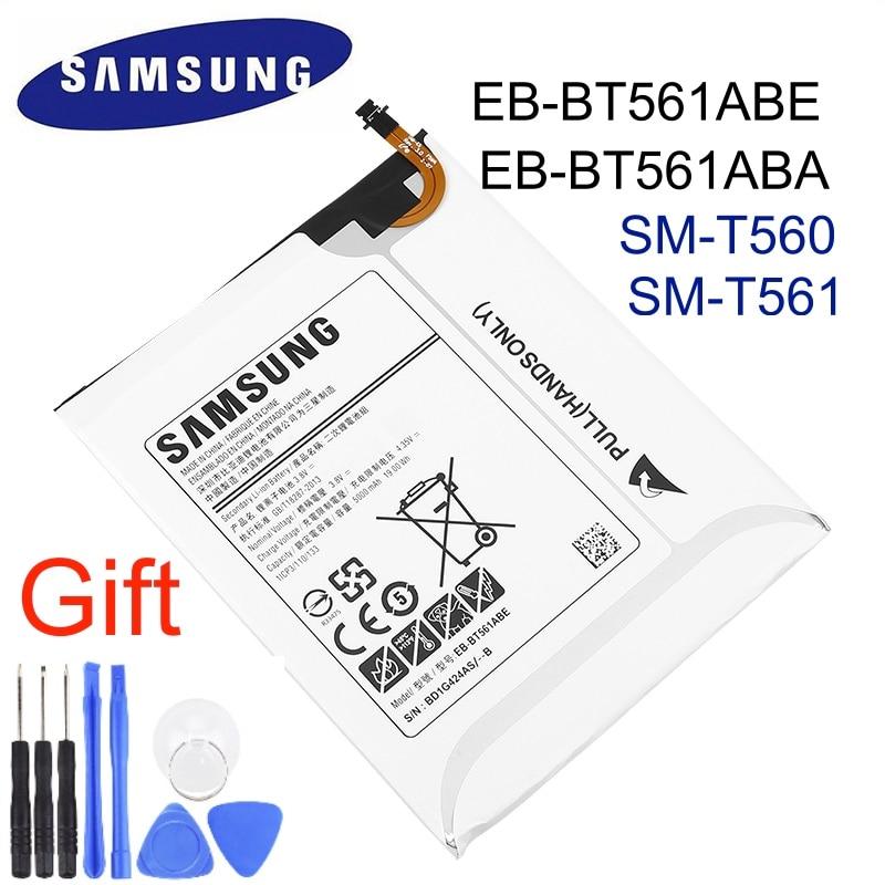 100% bateria de substituição original EB-BT561ABE para samsung galaxy tab e t560 t561 SM-T560 autêntica tablet bateria 5000mah + ferramentas