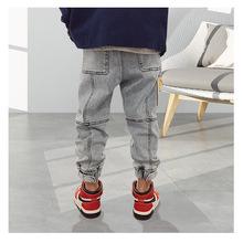 Spodnie dla dzieci dziewczyny maluch chłopcy dżinsy grube dzieci dżinsy dla chłopców dżinsy dzieci chłopiec casualowe spodnie jeansowe maluch dzieci odzież 5-14Y tanie tanio Stranglethorn Na co dzień Pasuje prawda na wymiar weź swój normalny rozmiar C2007006 Elastyczny pas Stałe Proste light