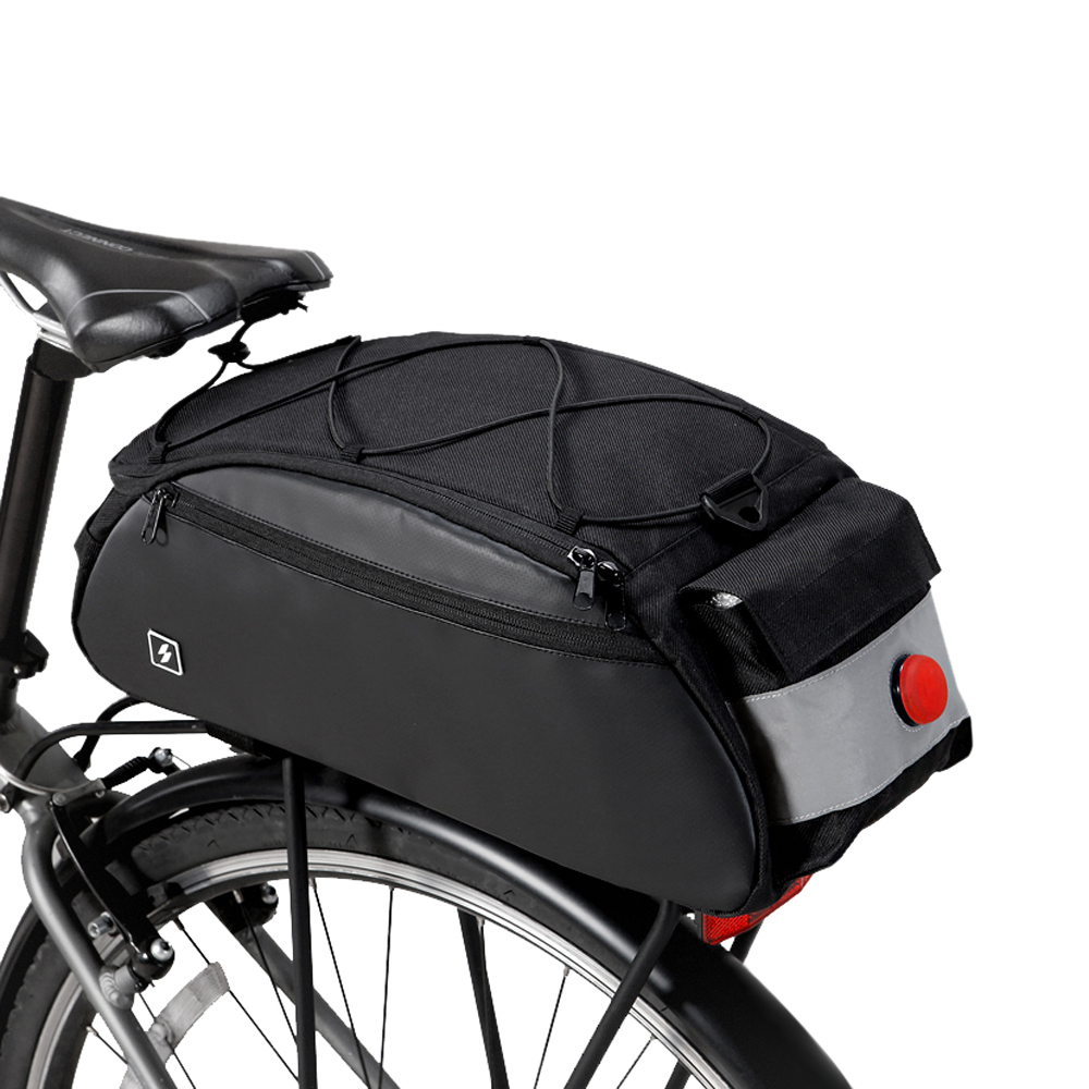 Waterproof Bicycle Strap-On Bike Saddle Bag Rack Cycling Cargo Rear Pack Bag