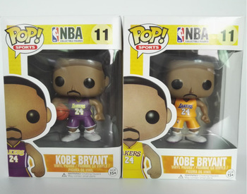 FUNKO POP Kobe Bryant NBA Basketball All-Star 10cm Vinyl Action Figures Collection Model Toys for Birthday Gifts