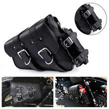 Left Side PU Leather Motorcycle Saddlebag Motorbike Side bags saddlebag Tool Luggage Bags Saddle Bags Waterproof Universal цена 2017