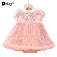 Baby Girl Party Dress Elegant Puff Sleeve 1st Birthday