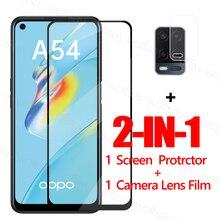 Volledige Lijm Glas Voor Oppo A54 Screen Protector Gehard Glas Voor Oppo A54 Beschermende Phone Film Voor Oppo A54 A74 a94 A95 A52 A72