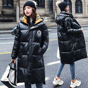Winter 2020 Women Jackets Black Long Women's Parkas Fashion Female Winter Cotton Bubble Puffer Jacket Elegant Ladies Warm Coats women jackets winter coats long sleeve fashion lapel zipper patchwork jacket outerwear female short elegant ladies clothing tops