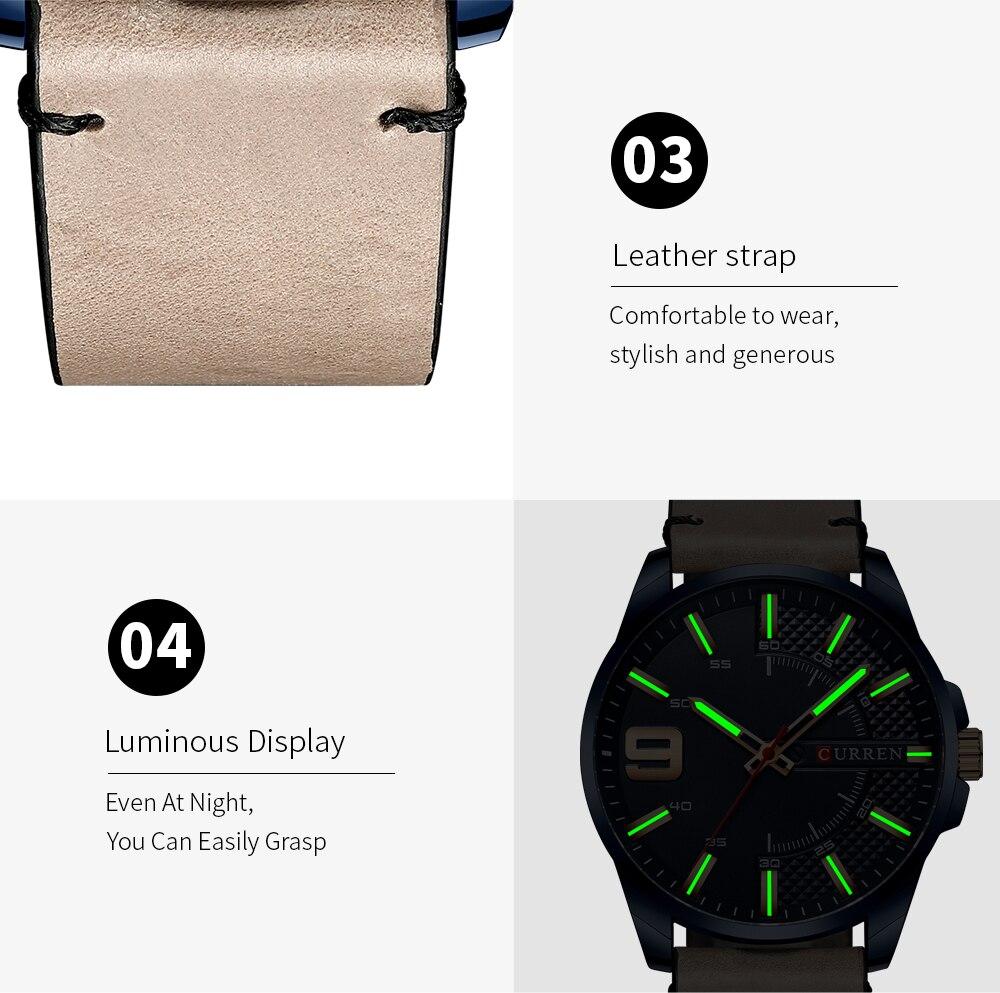 H9e58a17ad1ec497dad6e65e0fa82d709Q Top Brand Luxury Business Watch Men CURREN Watches