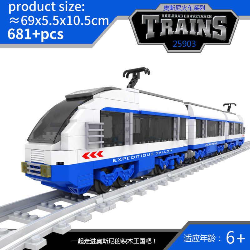Kits de rail de voie de passager d'armée de gare legoed compatibles de véhicule de ville
