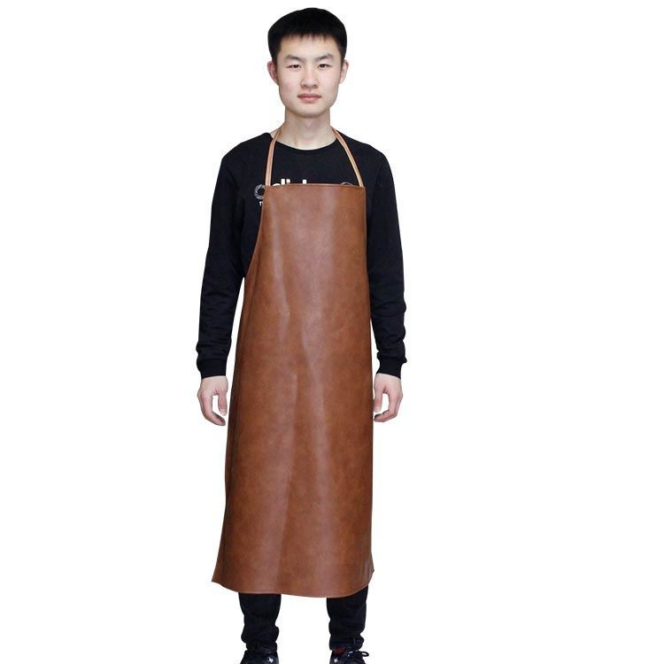 Hot Sales Industrial Black And White With Pattern Oil Resistant Waterproof Oil-Resistant Acid And Alkali Resistant Rubber Apron
