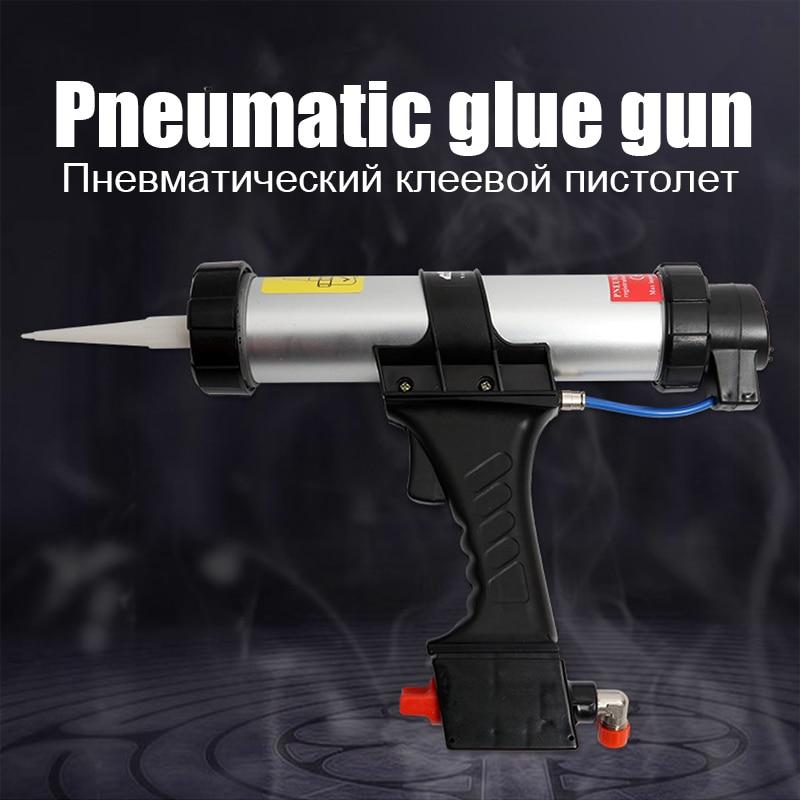 Silicon Tools 310ml Cartridge Gun Air Caulking Gun Pneumatic Sealant With The Rapid Regulating Valve For Paint Decorating