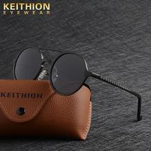 KEITHION Steampunkดวงอาทิตย์แว่นตาหญิงRetroอลูมิเนียมแมกนีเซียมแว่นตากันแดดผู้ชายแว่นตากันแดดPolarizes Oculos De Sol