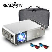 Real TV T6 Full HD Led Proyector 4K 3500 lúmenes 1080p portátil de cine Proyector HDMI USB VGA SD con regalo