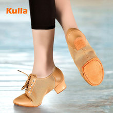 Sneakers Dance-Shoes Ballroom Practice Black Yellow Salsa Latin Tango Soft-Sole Women