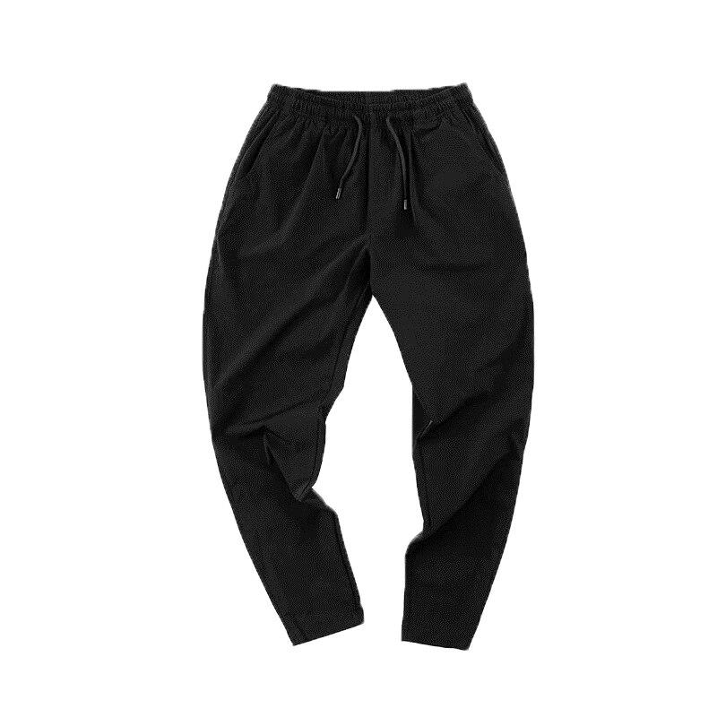 Summer Thin Men's Sports Pants Men Casual Pants Korean Elasticity Feet Quick Dry Pants Straight Brand Business Suit Trousers 6