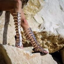 Сандалии Женские однотонные с открытым носком, римские босоножки на низком каблуке, модная классическая универсальная повседневная обувь, ...