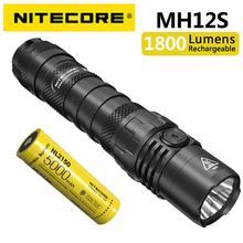 Универсальный фонарик NITECORE MH12S с прямой зарядкой и аккумулятором NL2150