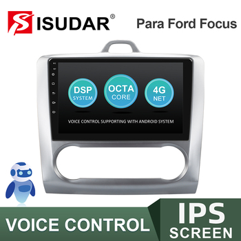 ISUDAR V57S Android Car Radio For Ford/Focus 2 Mk 2 2004-2011 Multimedia Player GPS Stereo System DVR Voice Control 4G No 2 Din автомобильный dvd плеер isudar 2 din 7 dvd ford mondeo s max focus 2 2008 2011 3g gps bt tv 1080p ipod