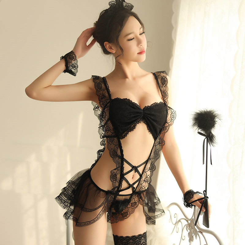 Women's Sexy Intimate Lingerie Set Sexy Exotic Maid Costume Role Playing Erotic Bedroom Cosplay Party Costume