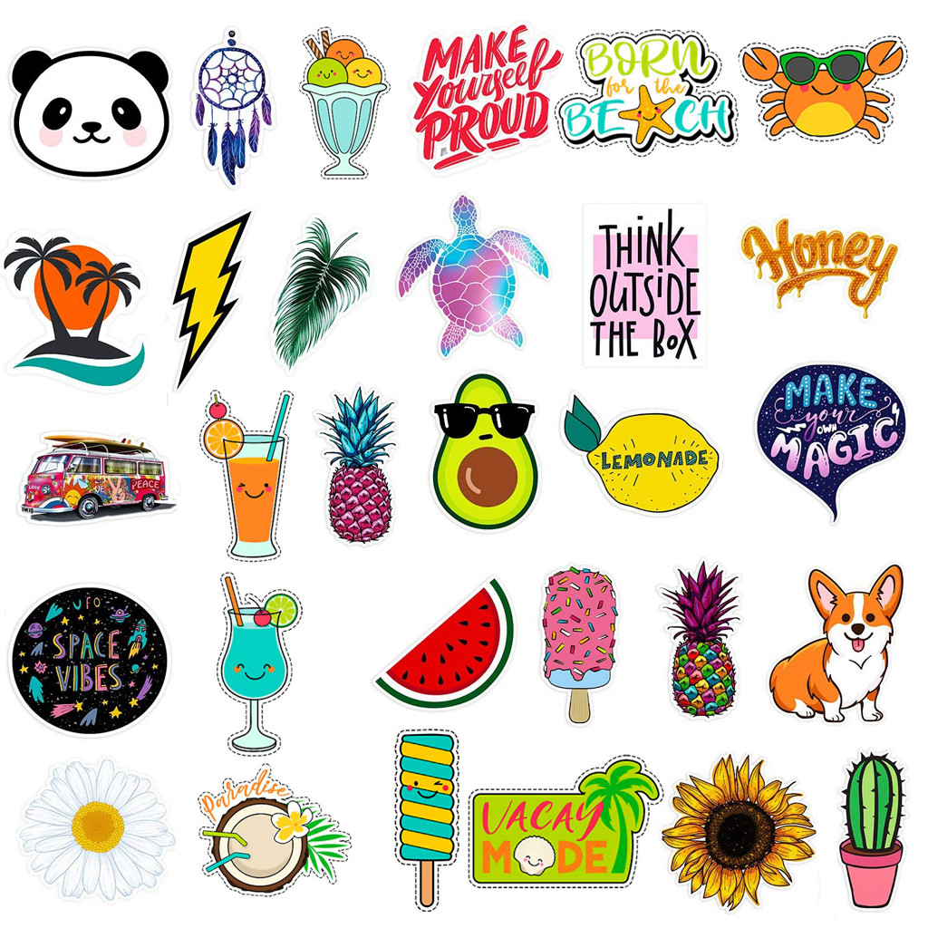Shylock Stickers for Water Bottle 50pack,Waterproof,Aesthetic,Trendy Stickers for Teens,Girls Perfect for Waterbottle,Laptop,Phone,Travel Case