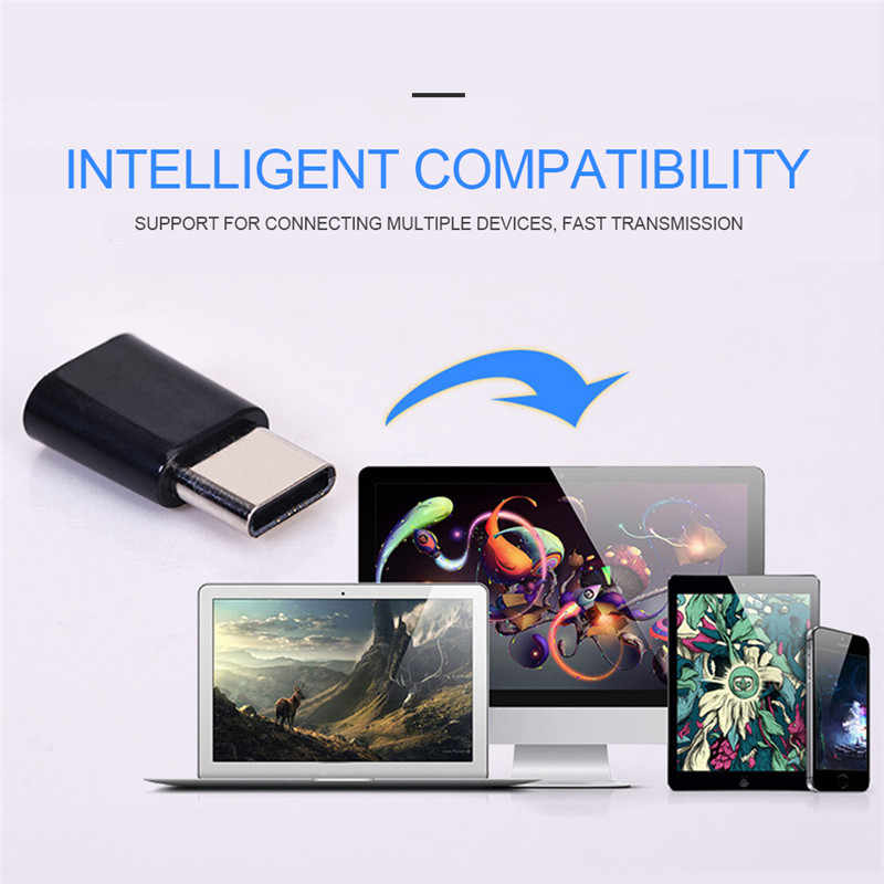 Hot Android Type-C To Micro USB Adapter Interface Mobile Phone Data Line Charging Converter For Huawei Xiaomi Andriod Phone