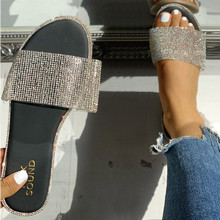 Летние женские шлепанцы с украшением в виде кристаллов; блестящие мягкие женские Вьетнамки ярких цветов на плоской подошве; женские шлепанцы; популярная пляжная обувь;# ZB