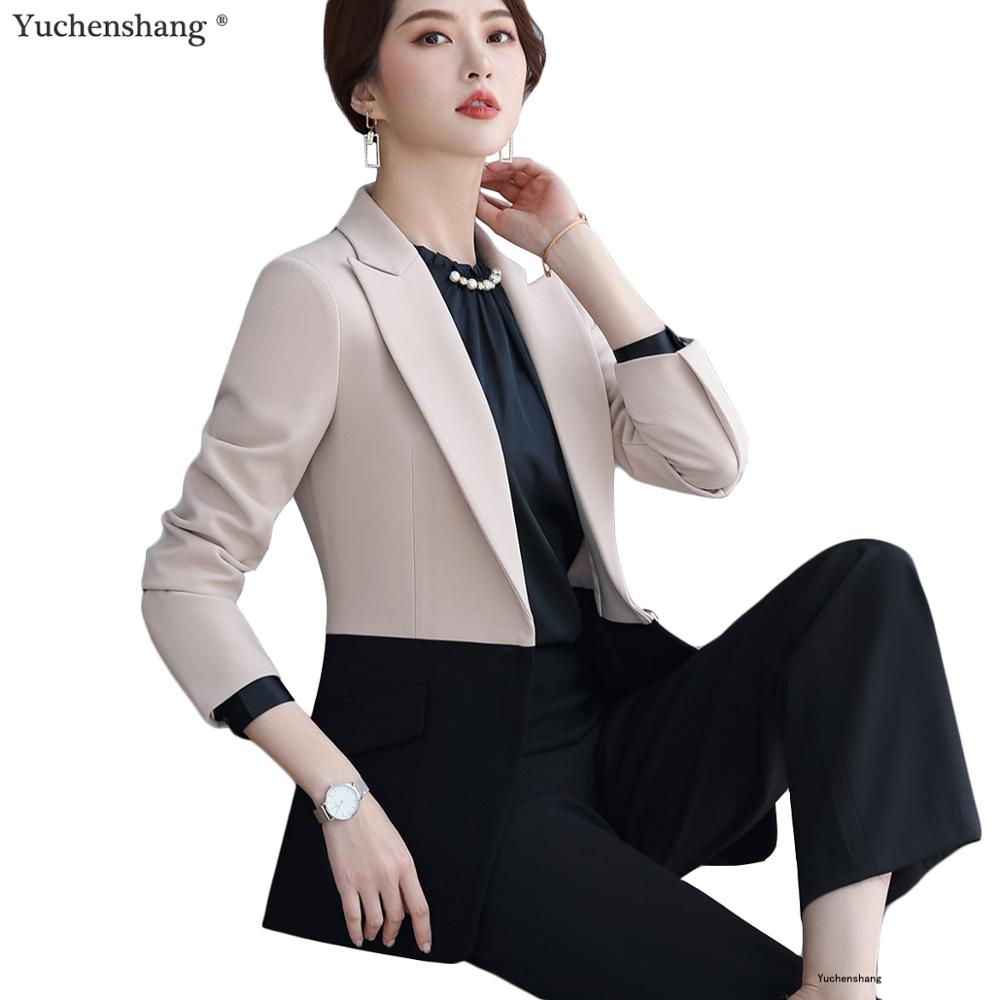 High-quality Elegant Blazer Women Outerwear Autumn Winter Coat Ladies Female Apricot Pink Jackets