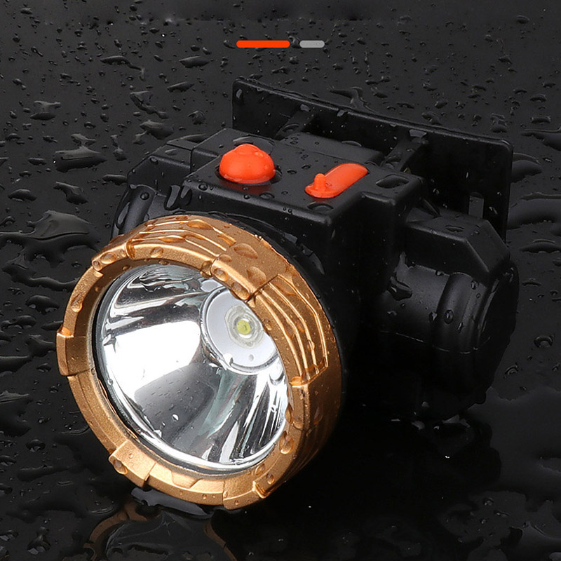Outdoor Rechargeable Strong Headlamp USB Fast-charged Led Waterproof Fishing Lamp Head-mounted Large-capacity Lithium Flashlight