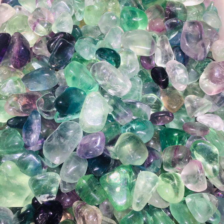 Piedras de grava de fluorita pulidas y coloridas naturales para acuario BAMOER, moda nueva, Plata de Ley 925 auténtica, Mystery Ocean Charms Beads fit, pulseras de encanto para mujeres, joyería de piedra DIY SCC246