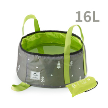 цена на 16L Portable Outdoor Travel Folding Water Bucket Wash Basin For Camping Hiking